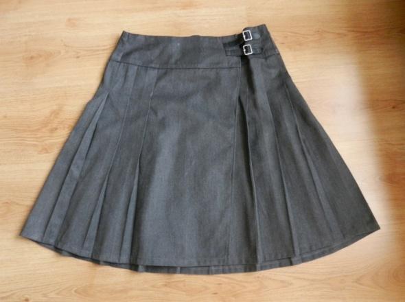 Spódnice Spódnica układana grafit szary popiel 38 40 M L