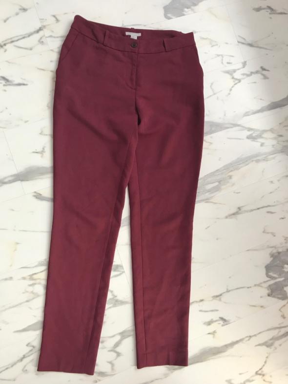 Bordowe spodnie cygaretki długie H&M 38 M 40 L...