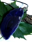 Wielki fioletowy agat efektowny wisior 14 cm...