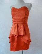 BAY Sukienka z BASKINKĄ Orange ZIP 38 40...