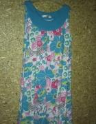 Bawełniana prosta sukienka plażowa 128 cm 8 9 lat...