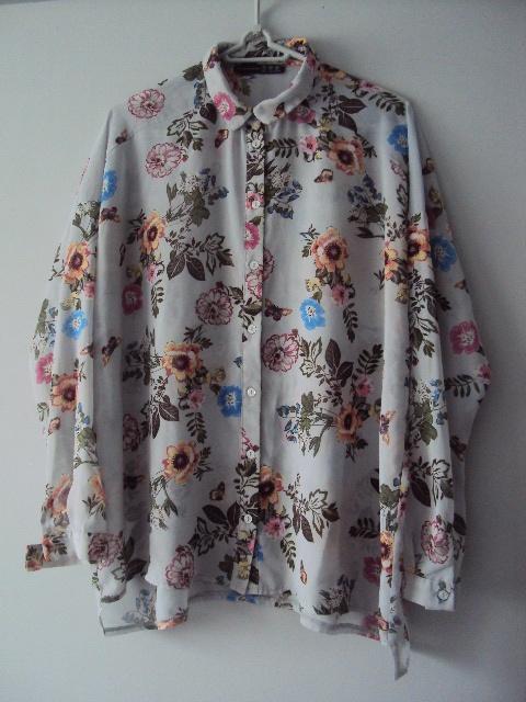 Koszule koszula oversize w kwiaty