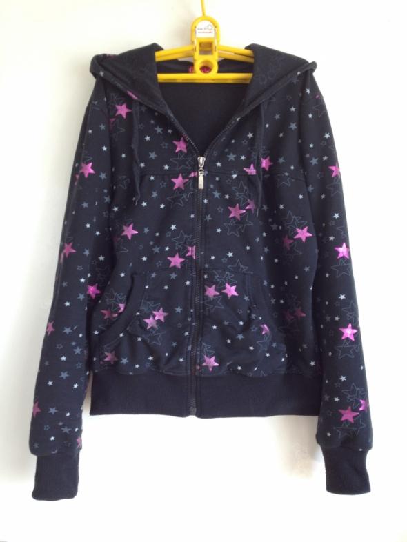Bluza czarna w różowe gwiazdki XS S M L 34 36 38 4