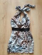 mini sukienka Zara animal orint rozmiar S