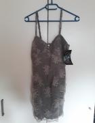 mini koronkowa sukienka XS Zara