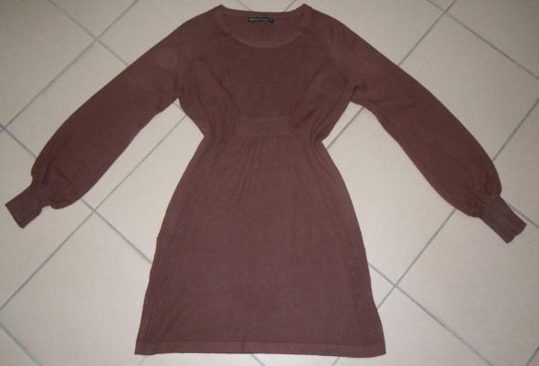 Tunika sukienka brązowa 38 40 M L