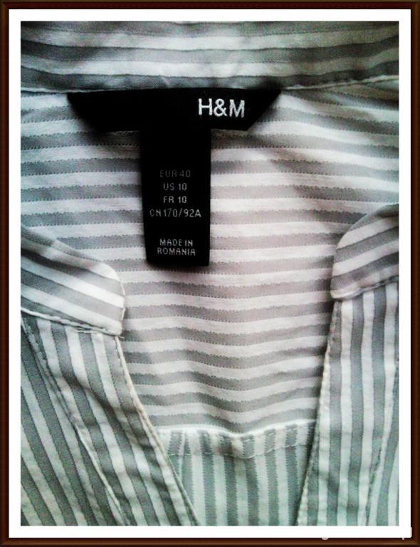 H and M w szaro białe paseczki Tanio