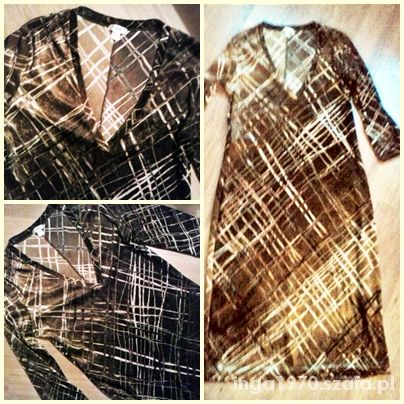 MNG welurowa kobieca sukienka 38