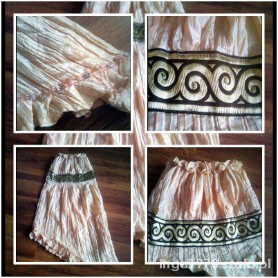 Suknie i sukienki Asymetryczna sukienka gołe ramiona rozm 36 38