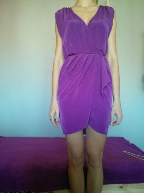 fioletowa sukienka top shop