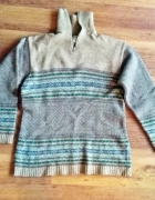 Ciepły sweter męski z rozpinanym golfem Jackpot by...