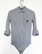 Koszula body Reserved XS S w paski zapinana na guziki elegancka...