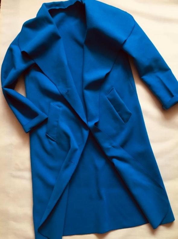 TU niebieski płaszczyk z dodatkiem wełny 44...