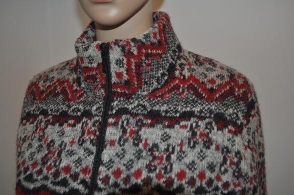 David Nieper szary sweter kardigan Wełna 38 40...