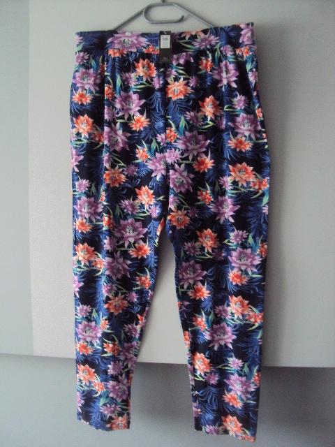 nowe spodnie w kwiaty...