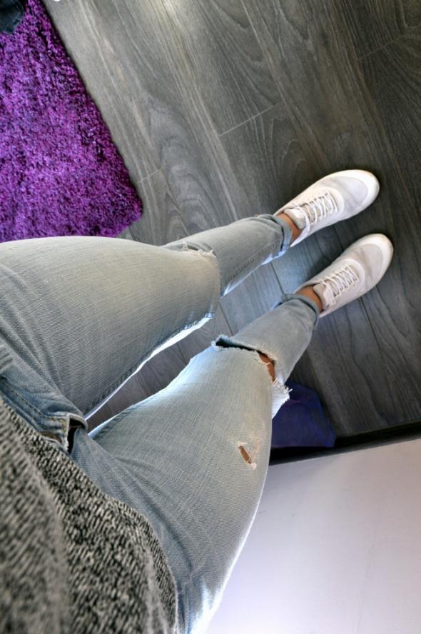 Jasne spodnie 24x32 H&M...
