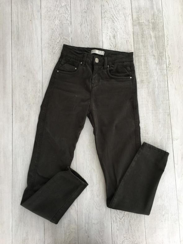 Spodnie khaki ciemne rurki obcisłe...