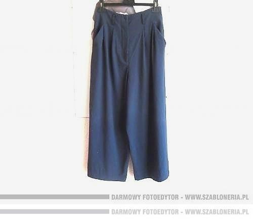 Sisley wysoki stan culotty spodnie