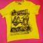 Żółta Musztardowa Koszulka Neonowa Koszulka Tshirt...