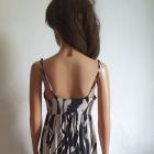 Czarno biała sukienka maxi r S