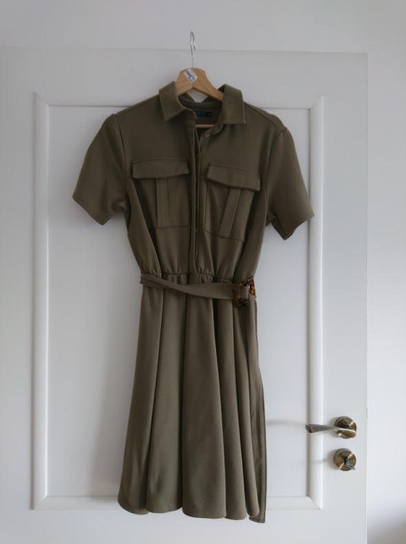 Koszulowa sukienka w stylu safari 38 Mohito...