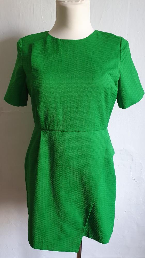 Zielona koktajlowa sukienka r 44