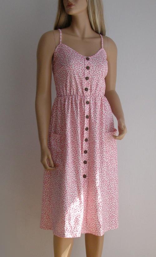Sukienka kwiaty M L zwiewna vintage kieszenie retro