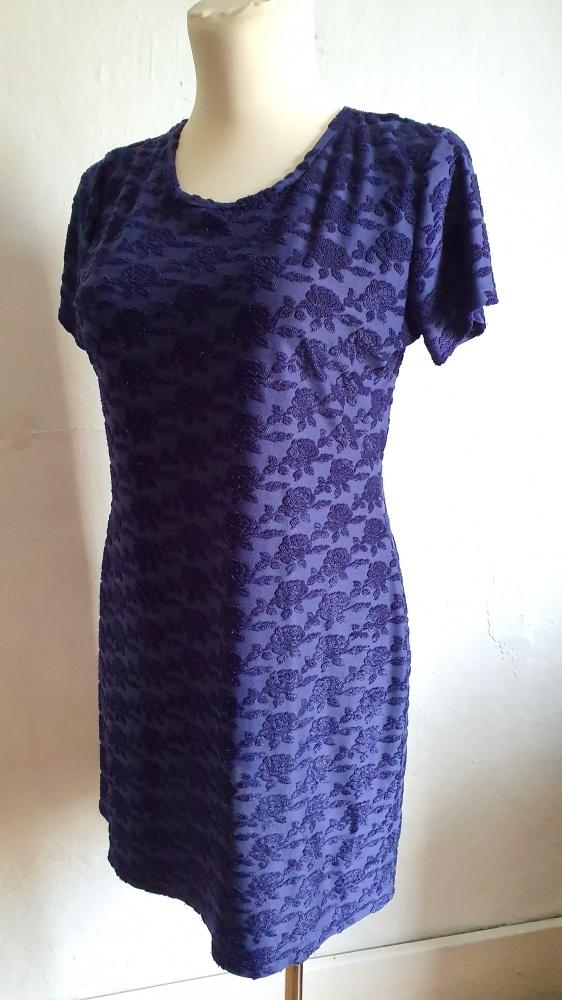 Granatowa elegancka sukienka r 46 48