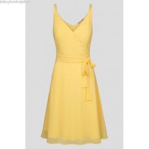 Cytrynowa zwiewna sukienka Orsay 38
