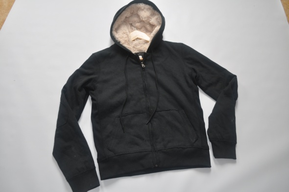 Aqua ciepła czarna bluza na misiu hoodie 38 M