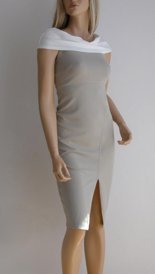 Sukienka elegancka BooHoo wesele 36 38 dopasowana ołówkowa