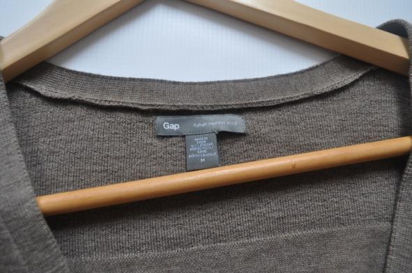 Gap brązowy sweter kardigan Italian Merino Wool 38...
