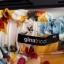 Gina Tricot kuloty szerokie spodnie kwiaty kolorowe 34 36 XS S