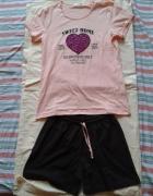 Piżama piżamka koszulka i szorty spodenki 36 większe S 38 M now...
