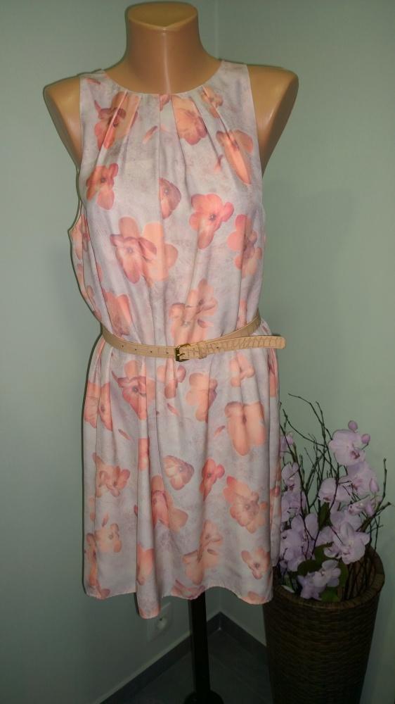 sukienka w kwiaty 40 42