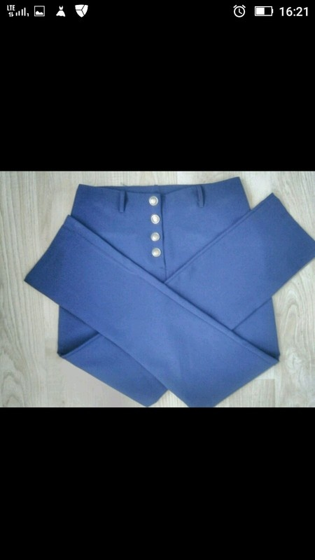 Granatowe spodnie Tally Weijl 36 S...