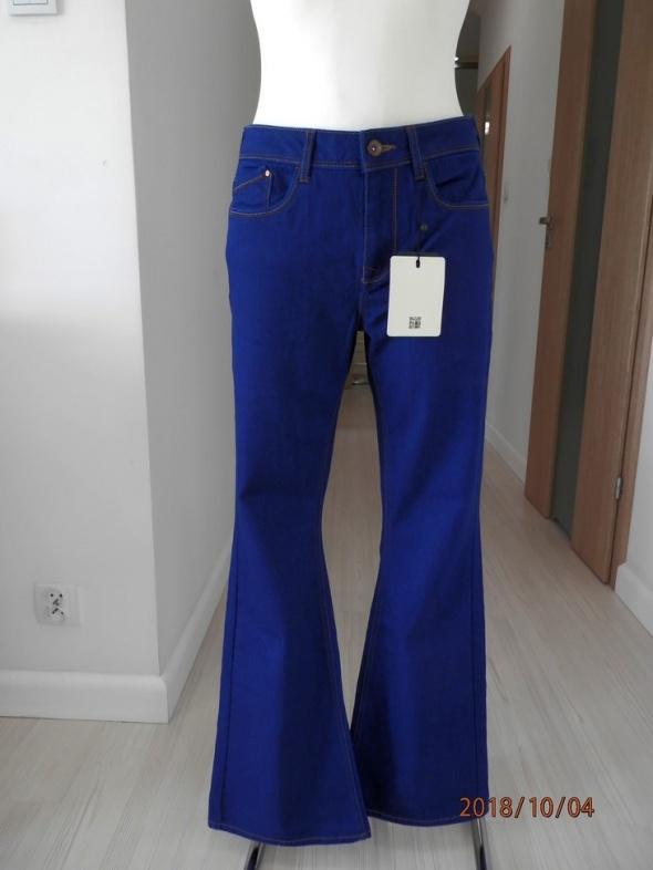 Spodnie Pulz Jeans Dzwony Niebieskie Nowe z Metkami M 29 32