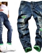 Spodnie boyfriend damskie dziury przetarcia HIT...