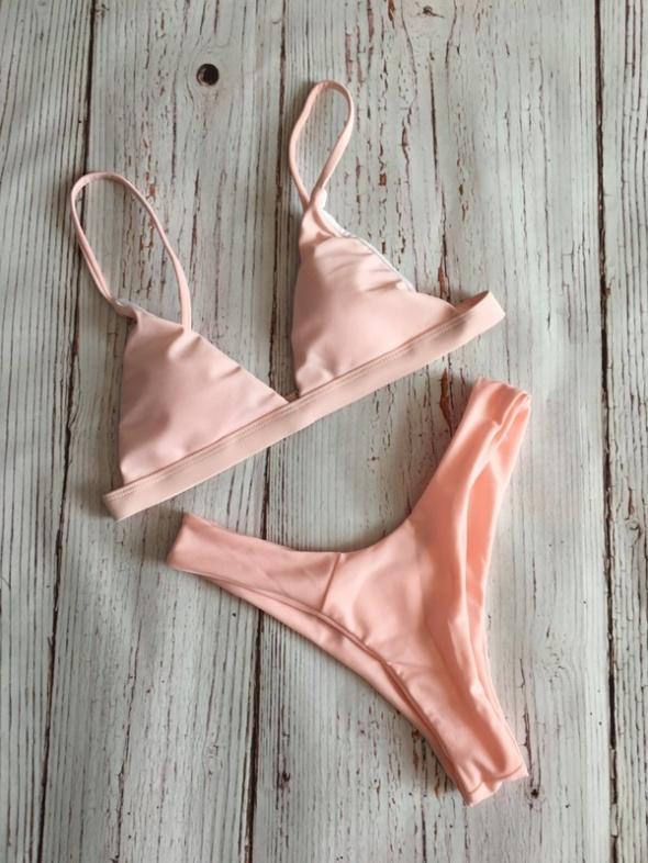 Pudrowe bikini nowe S