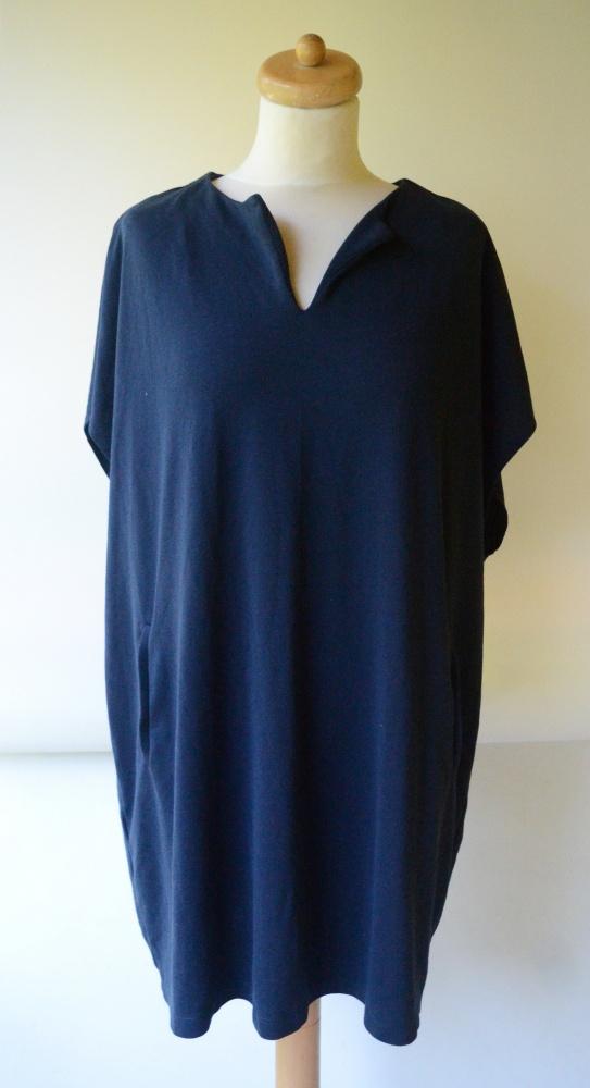 Sukienka Esprit L 40 Granatowa Oversize Granat Luzna