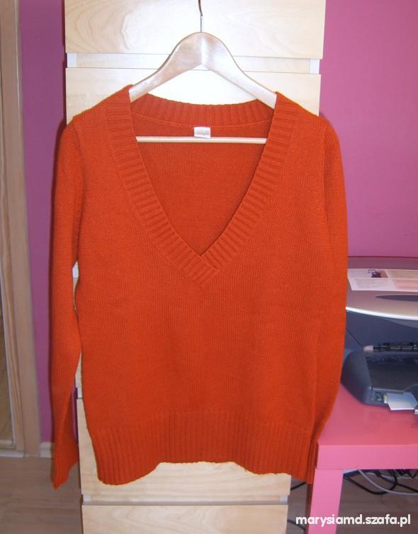 Nowy rudy sweter Camaieu...