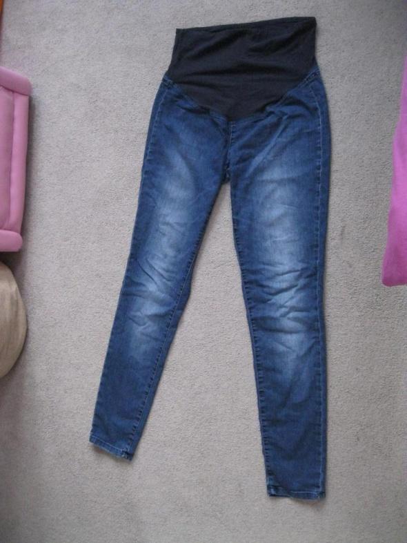 spodnie jeans ciążowe H&M mama M L granatowe