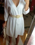 Sukienka z haftem Zara biała rozmiar XS...