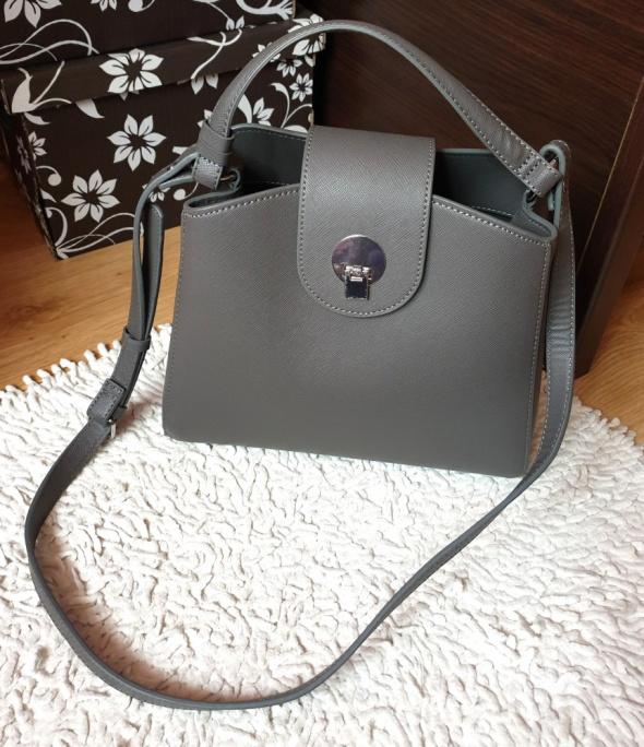 Nowa szara torebka mini shopper Zara blogerska