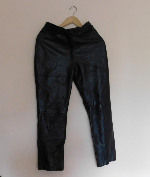 RIchards spodnie czarne skóra 42