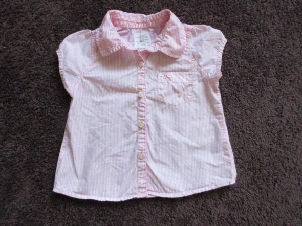 Elegancka bluzka koszula dla dziewczynki roz 74