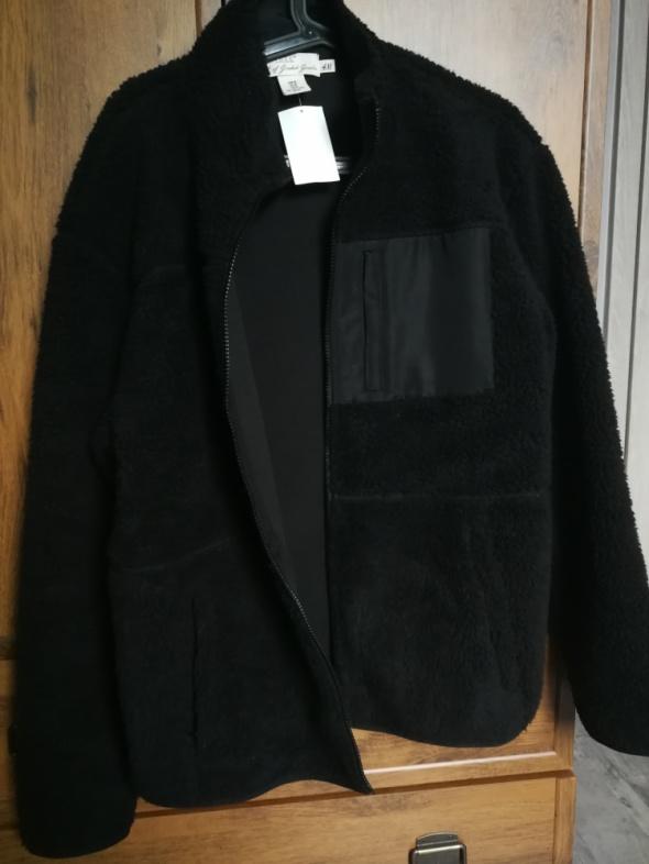 Bluza H&M czarna z futerkiem rozpinana