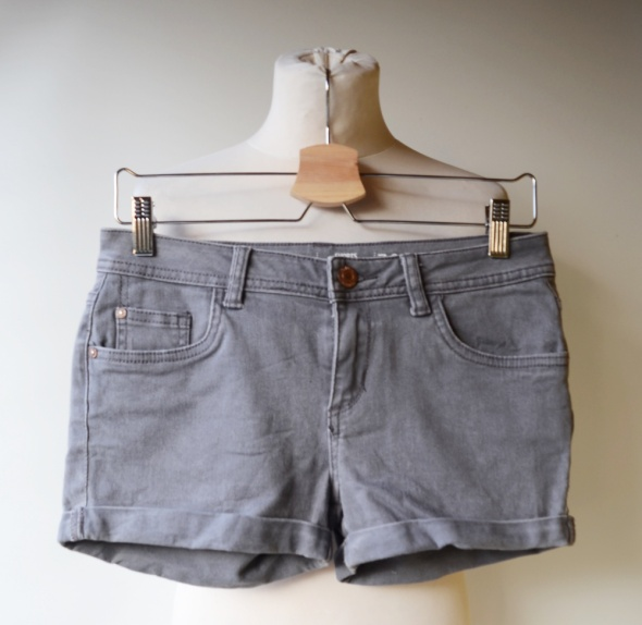 Spodenki Spodenki Szare Cubus S 36 Low Waist Jeans