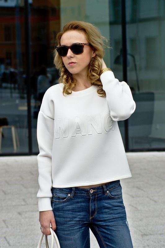 Bluza Wang biała