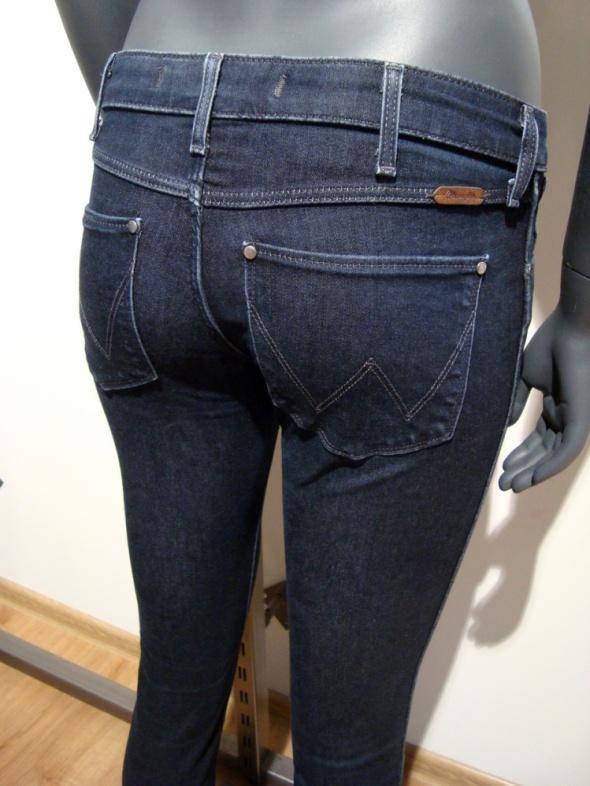 Ciemno Granatowe Dżinsy Wrangler Courtney Skinny XS 25 30